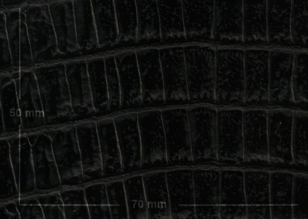 Griffband schwarz mit 'Krokodilprägung'