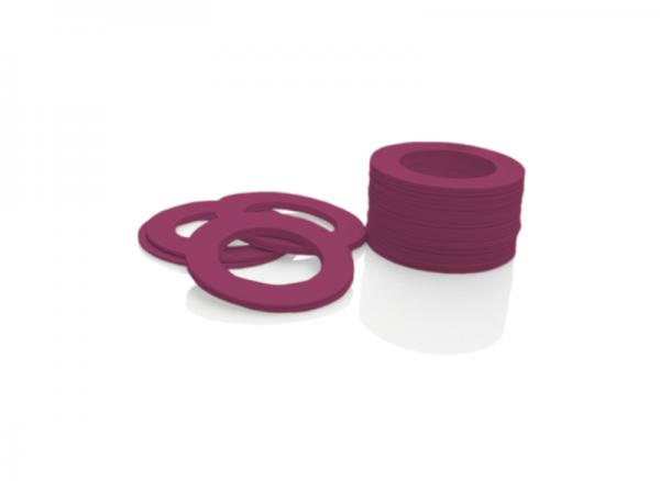 Dekorativer Kunststoffring Pflaumenrot (Joint)