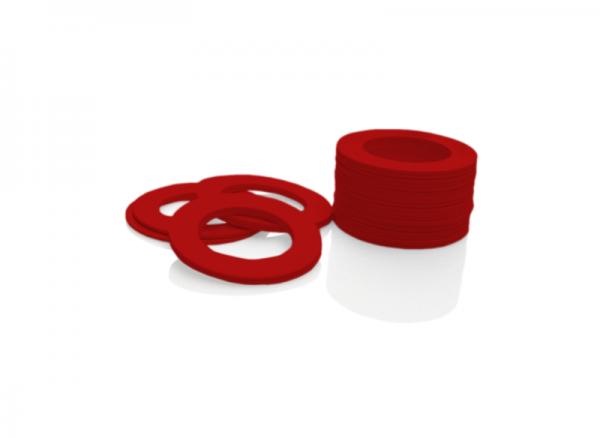 Dekorativer Kunststoffring Rot (Joint)