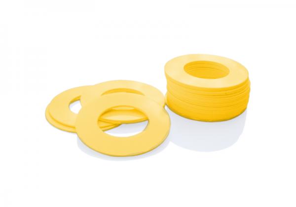 Dekorativer Kunststoffring Gelb (Butt)