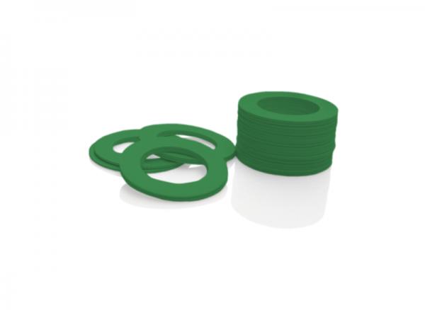 Dekorativer Kunststoffring Grün (Joint)