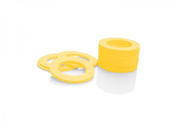 Dekorativer Kunststoffring Gelb (Joint)