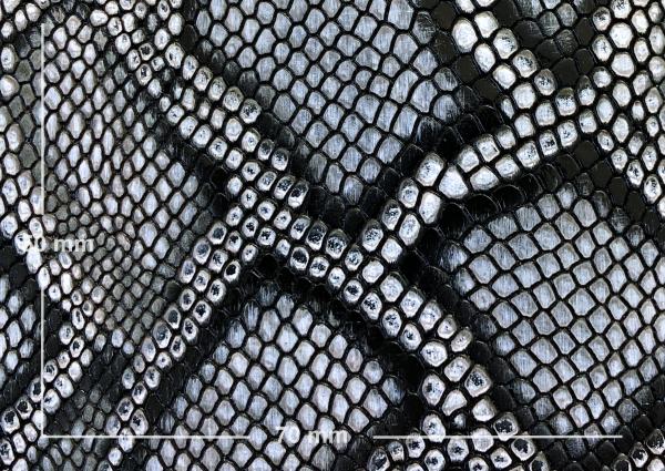 Griffband schwarz / weiß mit 'Pythonprägung'