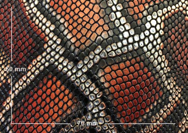 Griffband schwarz / braun mit 'Pythonprägung'